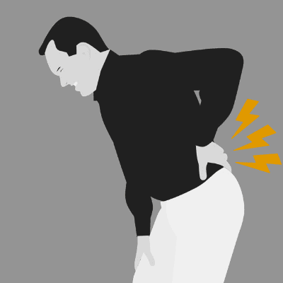 back pain from pedestrian accident